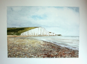 Original watercolour and pen on paper. Picture size 25x35cm.  Framed £220.