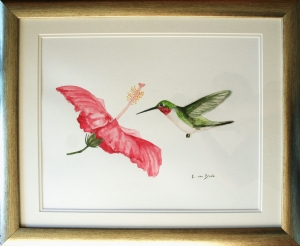 Original Watercolour Painting on Paper.  Picture size 32.5x41cm. Framed size 40x50cm.  Framed £75.