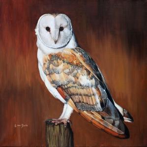 Original oil painting on canvas. 50x50cm. £850.