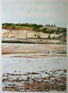 Original painting. Watercolour & pen on paper. Picture size 35 x 25cm.  Framed £220.