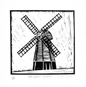 Limited Edition Linocut Prints 1-25. Print size 15 x 15cm. Unframed £25. (Paper fits standard 12